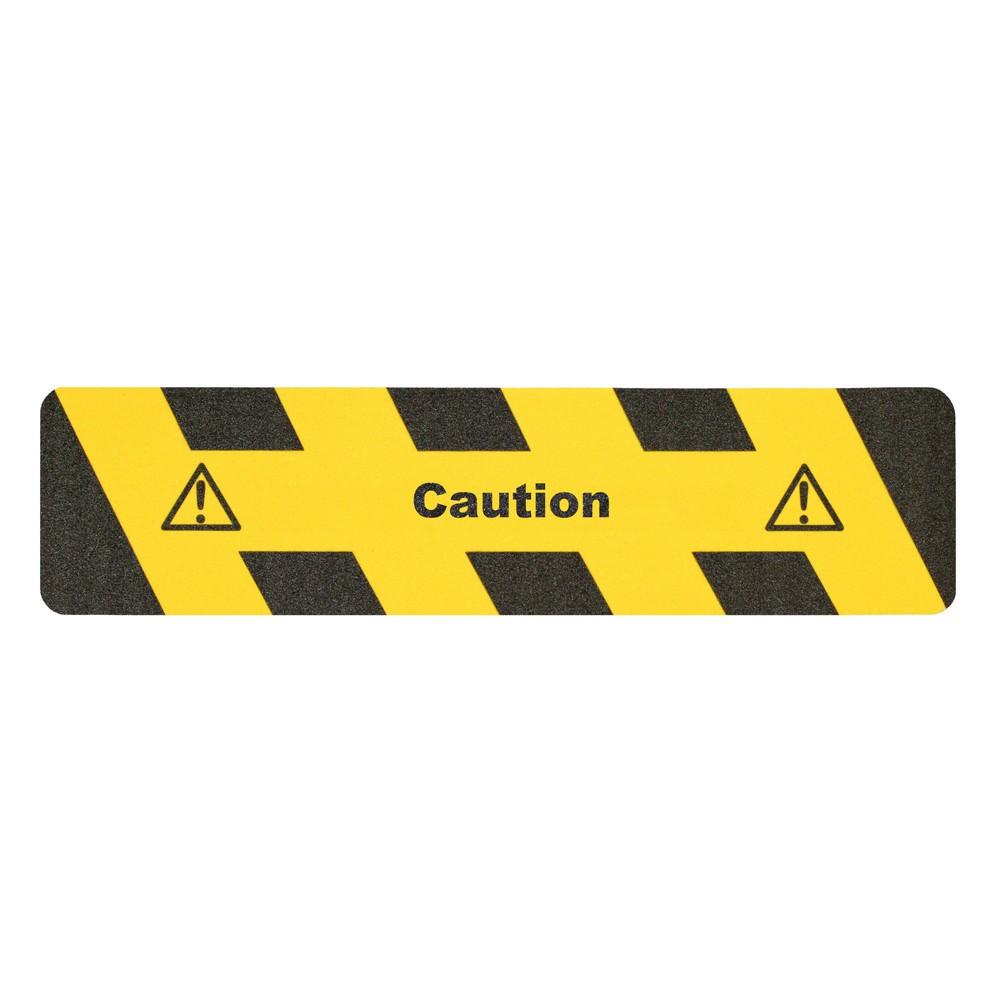 """Image of Mehr Unfallsicherheit durch eine Kombination aus Warnhinweis und Antirutschbelag Der m2-Antirutschbelag™ """"Vorsicht"""" ist selbstklebend und kann daher schnell und mühelos verlegt werden. Aufgrund der sehr guten Haftung mittels der Acrylklebstoffschicht auf"""