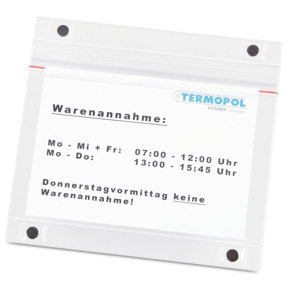 Image of  Ausführungen im Hoch- oder QuerformatMagnettasche DIN A5, quer, 5 Stk/VE Magnettasche DIN A5, quer, 5 Stk/VE