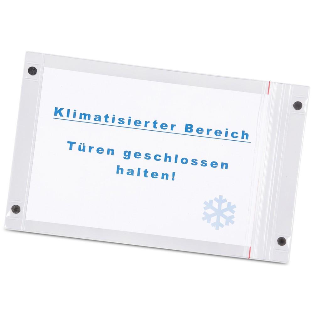 Image of  Ausführungen im Hoch- oder QuerformatMagnettasche DIN A4, hoch, 5 Stk/VE Magnettasche DIN A4, hoch, 5 Stk/VE