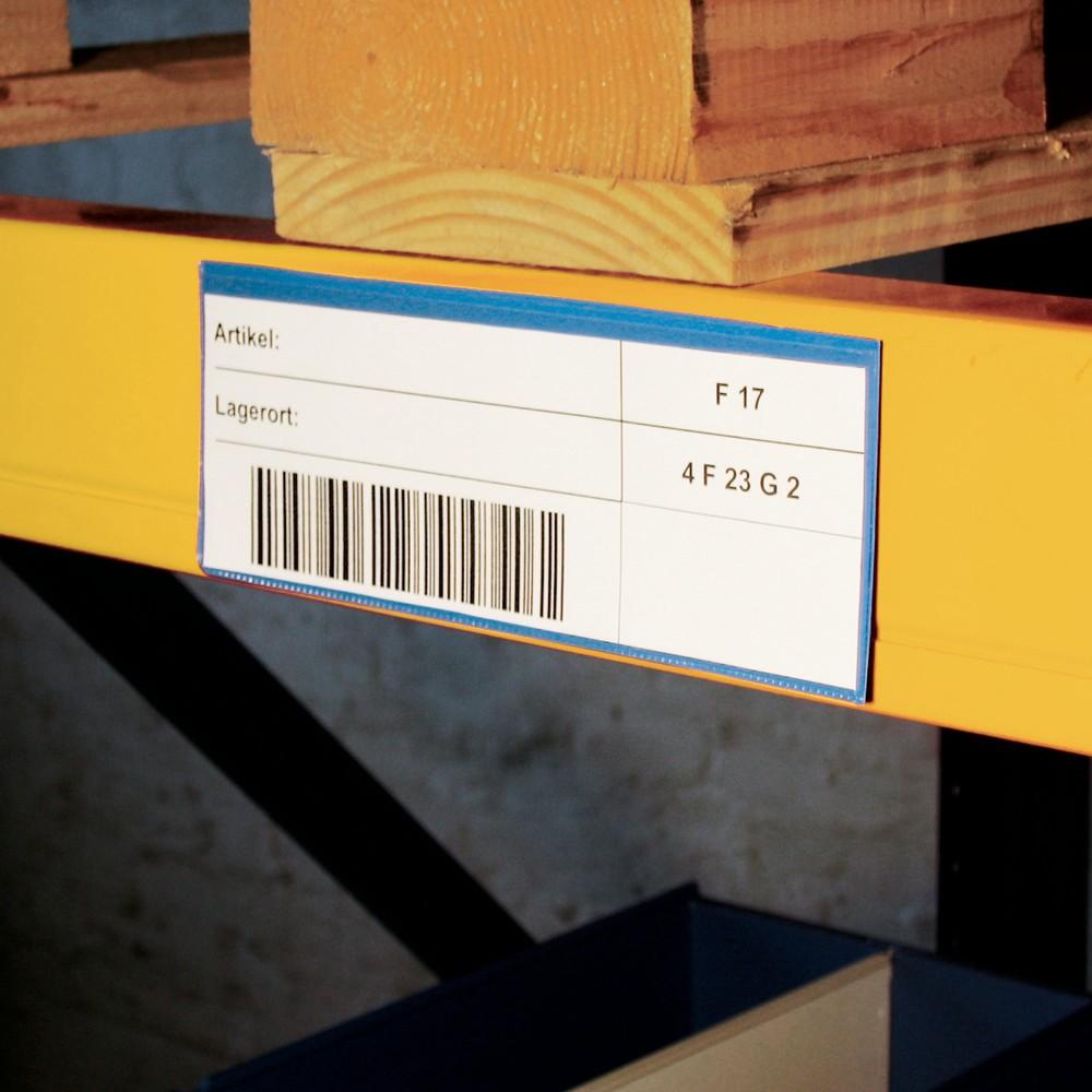 Image of Für mehr Übersicht: Dokumententasche für metallische Behälter mit Magnetstreifen Magnettaschen sind ideal zur Kennzeichnung von metallischen Lager- und Transportbehältern geeignet. Diese Magnettasche besteht aus hochbelastbarem PVC-Material mit einer Mate