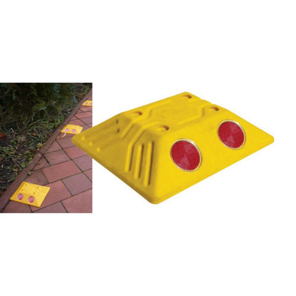 Image of  Lieferung inklusive DrehstiftnagelMarkierungsnagel mit Reflektoren, eckig, HxBxT 32 x 150 x 125 mm, gelb Markierungsnagel mit Reflektoren, eckig, HxBxT 32 x 150 x 125 mm, gelb