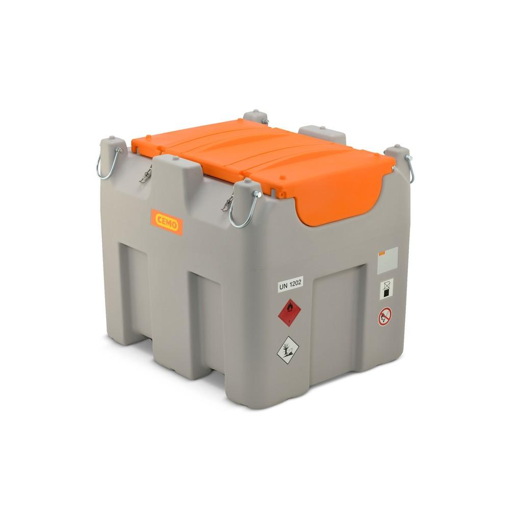 Image of Mobile Diesel-Tankanlage CEMO 980 l Basic – Standortunabhängige Kraftstoffversorgung Die Mobile Diesel-Tankanlage CEMO 980 l Basic bietet Ihnen die Möglichkeit, direkt vor Ort Ihre Dieselfahrzeuge mit Kraftstoff zu versorgen. Für einen einfachen Transport