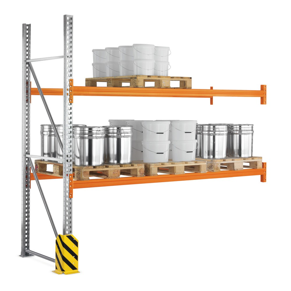 Image of Einfache Erweiterung Ihrer META-Regale für Europaletten Auf Europaletten können Sie Sperrgüter gut transportieren und praktisch lagern. Die META Palettenregale eignen sich für die passgenaue Tiefenlagerung von Europaletten, das heisst, Sie können diese mi