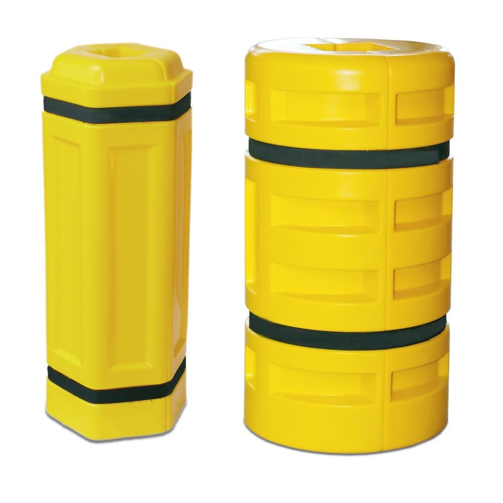 Image of Elastischer Anfahrschutz aus Kunststoff Durch die elastische Verformbarkeit und die pneumatische Stossdämpfung erzielt der Anfahrschutz aus Polyethylen eine optimierte Prallaufnahme und leistet damit zuverlässigen und langlebigen Schutz für Säulen, Stahlt