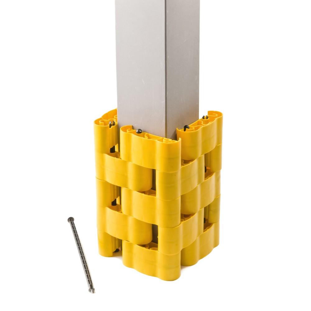 Image of Anpassungsfähiger Säulen-Anfahrschutz STRUKTUR Mit diesem Anfahrschutz verfügen Sie über eine flexible und zuverlässige Sicherheitsvorrichtung für Rundsäulen, H-, I-Träger sowie alle quadratischen und rechteckigen Pfeiler in Ihrem Betrieb. Variable Verbin
