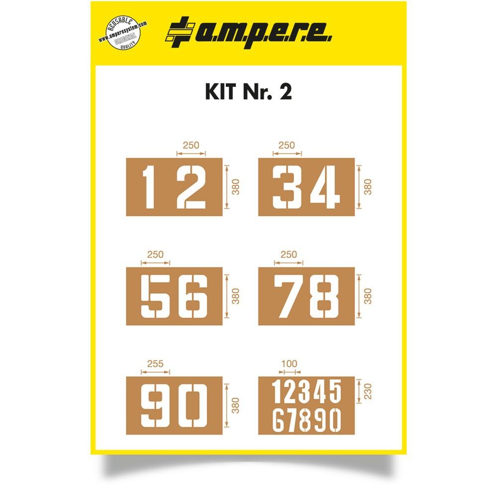 Image of  Zur mehrfachen Verwendung mit abriebfester Sprühfarbe geeignetSchablonen Set 2 à 6 Schablonen Schablonen Set 2 à 6 Schablonen