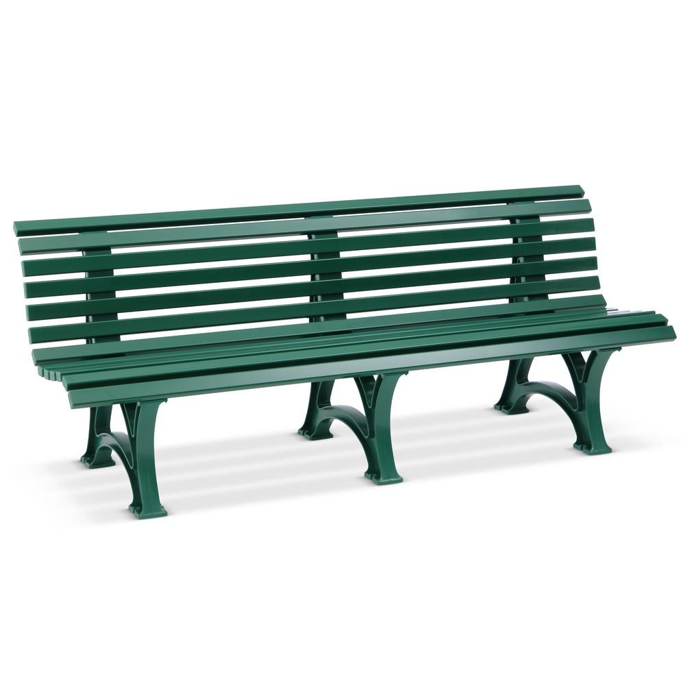 Image of Sitzbank Genf aus Vollkunststoff – bruchsicher und wartungsfrei Ob als Gartenmöbel im privaten Bereich oder Ruhebank im Betrieb: Diese hochstabilen Bänke gewährleisten eine gesunde Sitzhaltung auch über längere Zeit. Die wetterfesten Bänke stellen Sie dau