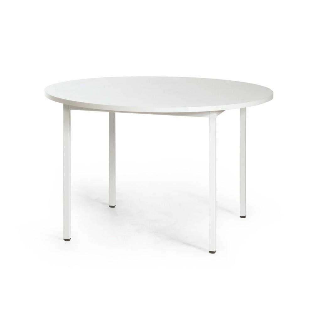 Image of Stabiler und vielseitiger Tisch Durch die Metallrahmenkonstruktion und die melaminharzbeschichtete Tischplatte ist der Tisch besonders robust und langlebig. Er eignet sich gut für Aufenthalts-, Pausen-, oder Sozialräume. Dank der beschichteten Tischplatte