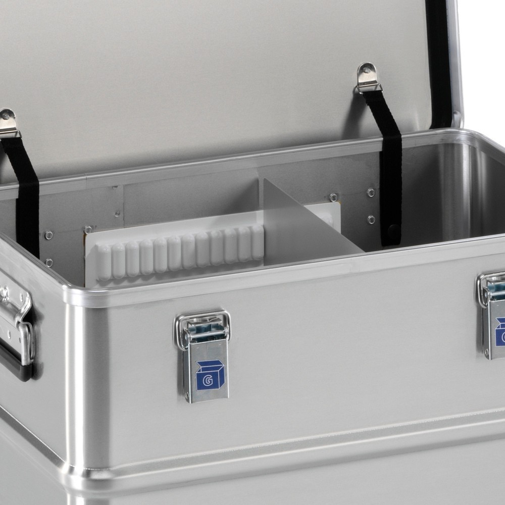 Image of  Inhalt: 2 selbstklebende Führungsschienen für TrennwändeTrennwandsystem für Alu-Transportkiste Profi Trennwandsystem für Alu-Transportkiste Profi