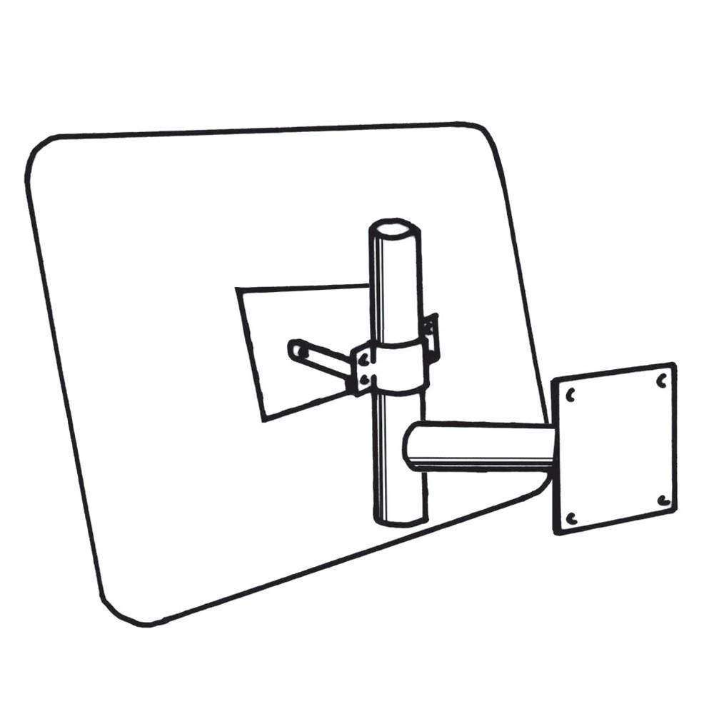 Image of  Einfache MontageWandarm für Industriespiegel DIAMOND Wandarm für Industriespiegel DIAMOND